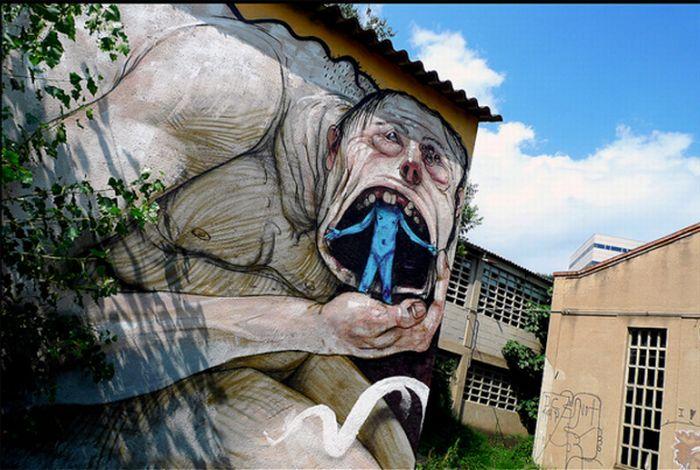 Самые сумасшедшие граффити со всего мира!