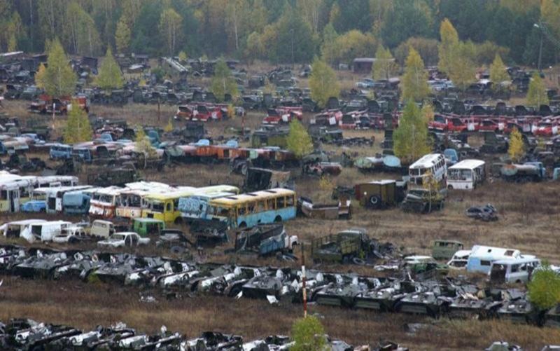 Россоха – кладбище техники из Чернобыля
