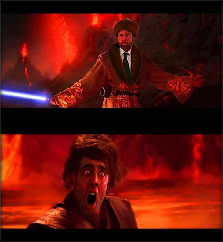Николас Кейдж жестко перебрал с кумысом и вот что из этого получилось. (20 угарных мемов)