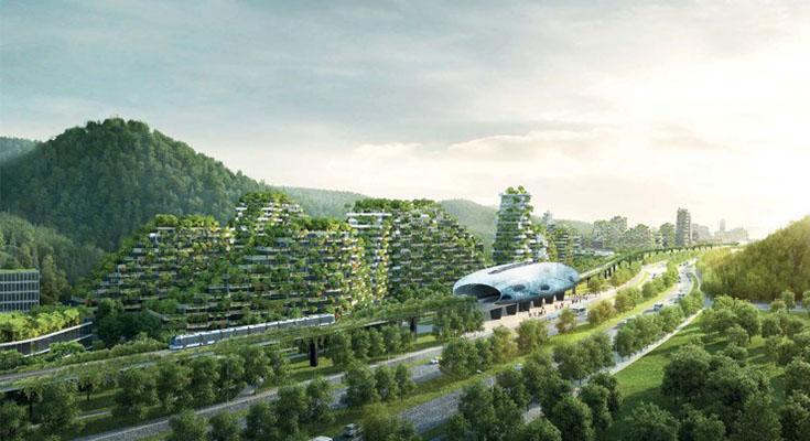 """Китайцы не перестают удивлять! В поднебесной строят """"лесной город""""."""