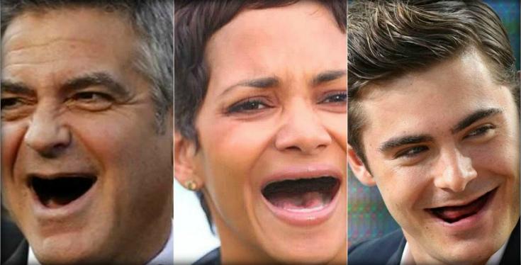 Если бы у голливудских актеров не было зубов (16 фото)