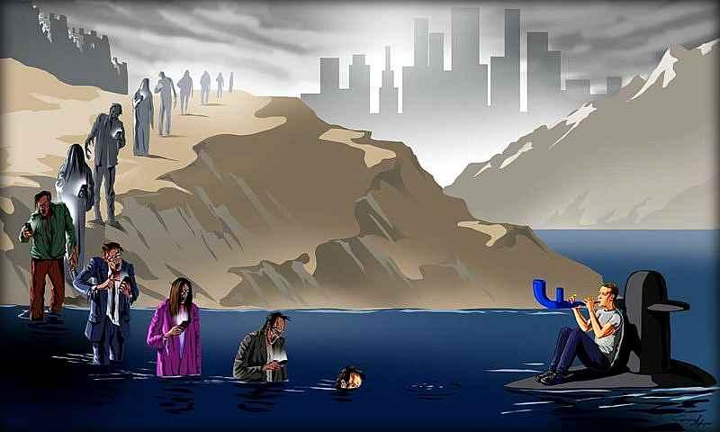Этого художника преследуют власти за правдивые иллюстрации современного общества (18 фото)