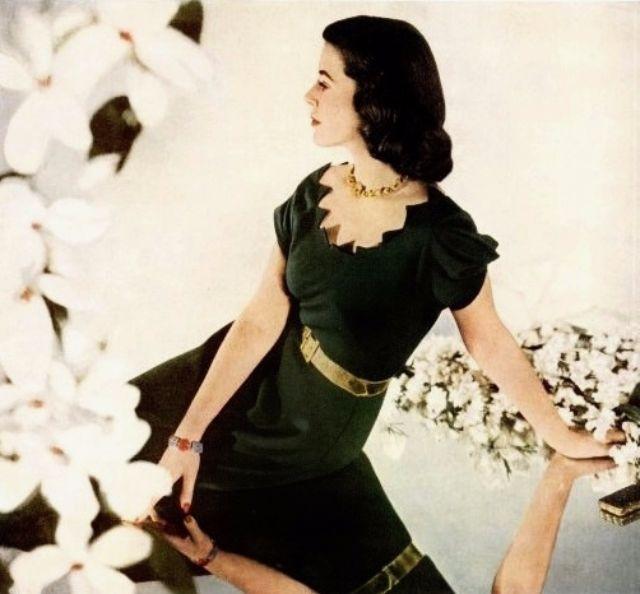 Редкие фотографии западной женской моды 1940-х годов
